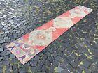 Carpet, Turkish rug, Vintage rug, Handmade rug, Runner, Wool | 2,0 x 10,6 ft