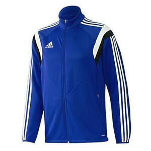 Adidas Boys Blue Condivo14 Fitted Lightweight Running Jacket Size XS G89314
