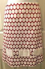 Women's SARA JANE By SARA CAMPBELL Skirt Red White Polka Dot Ribbon Trim  Sz 10