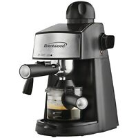 Brentwood 20 Oz Espresso Cappuccino Maker w/ Built-In Steamer & Reusable Filter