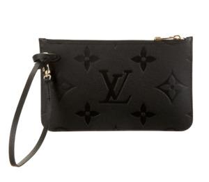 ❤️LOUIS VUITTON Neverfull GM/MM Monogram Black Empreinte Leather Pouch Clutch