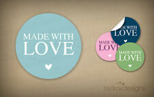 96 Made With Love Stickers   Decoration Labels   18 Colours   Envelope   Wedding