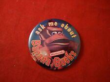 Ask Me About Banana Bucks Donkey Kong SNES Nintendo Pin Promotional Button Promo