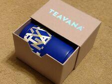 Teavana Bright Blue Logo TVNA Stackable Tea Tin 2 set 2oz ea! Home Office School