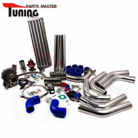 FOR NISSAN TD42 T3/T4 Turbo Charger Kit+ WASTEGATE + INTERCOOLER+ PIPING AR .63