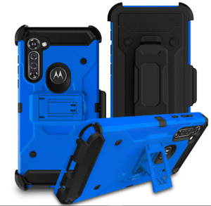 Motorola Moto G Stylus 2020 Case Premium Beltclip Cover+Tempered Scree Protector