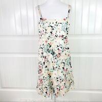 Nordstrom Halogen Women's Beige Floral Cotton Casual Mini Dress Size Large L