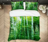 3D Bamboo Forest ZHUA1492 Bed Pillowcases Quilt Duvet Cover Set Queen King Zoe