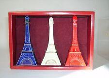 Rare coffret 3 mignonnettes porcelaine DE LUZE Grand Cognac – mini bottle