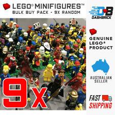 9 x Genuine LEGO Minifigures - BULK BUY PACK (Star Wars, City, Ninjago and more)