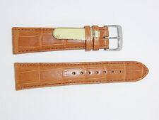 DI-Modell Genuine Louisiana 22 mm R' BROWN Alligator Leather Watch Band