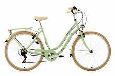"""Vélo de Ville Rétro Femme 28"""" 6 Vit Casino Vert Neuf TC 53 cm KS Cycling 700C"""