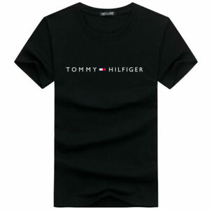 tommy hilfiger T-shirt letter printing round neck men loose casual clothes UK