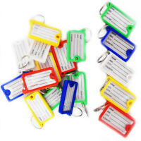 Key ID Tag Ring Tags Plastic Name Label Holder Office Factory Luggage Keytags