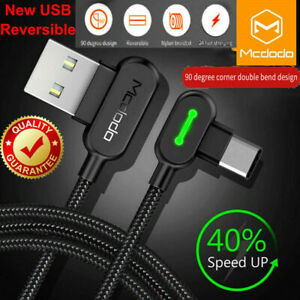 MCDODO USB Braided Charging Cable Type-C Charger Data Sync for Phone Samsung Htc