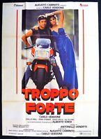 M179 Manifesto 4F Troppo Forte Carlo Verdone Alberto Tauben 1 Ausgabe Ita 1986