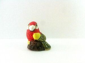 Parrot Large Bead Clay / Ceramic Figurine Handpainted Collectable New Art Peru