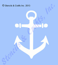 "4"" ANCHOR MINI STENCIL NAUTICAL OCEAN STENCILS BEACH ART TEMPLATE NAUTICAL NEW"