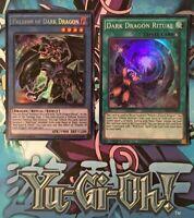 Paladin of Dark Dragon+Dark Dragon Ritual [DRL2-EN018/19] Mint, 1st Ed. YuGiOh