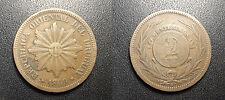 Uruguay - République - 2 Centesimos 1869H, Birmingham - KM#12
