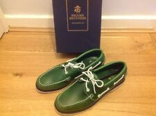 Da uomo Brooks Brothers Timberlands Sebago Dockside Mocassini VERDE taglia 10 UK