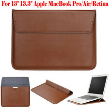 """Fr Apple 13"""" 13.3"""" MacBook Air/Pro Leather Sleeve Bag Case Slim Protective Cover"""