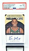 2013 Hoops Bucks Star KHRIS MIDDLETON Autographed Basketball Card PSA 8 NM-MT