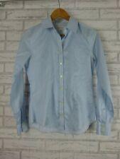 BANANA REPUBLIC Shirt/Blouse Sz 2 Blue, White stripe