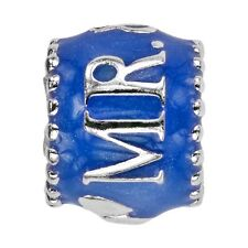 Genuine Lovelinks 'MR & MRS' Sterling Silver and Enamel Bead 11821622-97