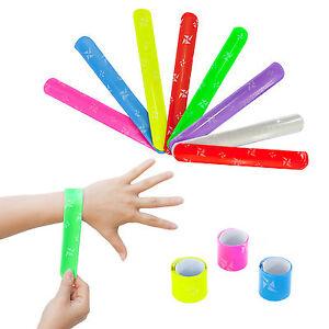 6 x Bunte Schnapparmbänder - coole Armbänder zum Kindergeburtstag Mitgebsel