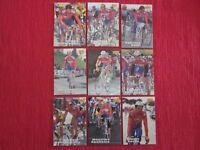 9 CARTES MERLIN 1996 TEAM SRIGNO BLUE STORM TOUR DE FRANCE CYCLISME NO PANINI