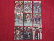 9 CARTES MERLIN 1996 TEAM SRIGNO BLUE STORM TOUR DE FRANCE CYCLISME NO PANINI