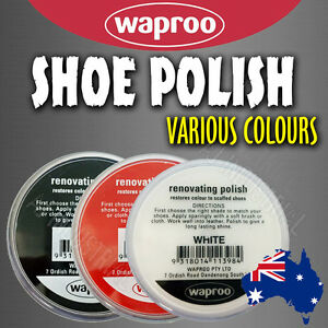Shoe Polish WAPROO  over 20 colors to choose from FREE POST !!!!