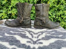 Felmini Taupe Green Leather Ankle boots UK 7 EU 41