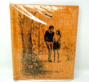 Vintage Photo Album NOS 1970s unused unopened package orange with couple
