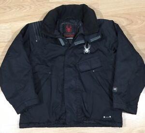 Spyder Coat Jacket Boys Size 7 Black And White Warm