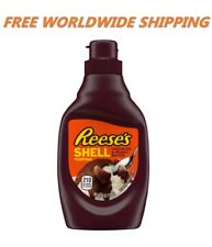 Reese's Chocolate & Peanut Butter Shell Topping 7 Oz WORLDWIDE SHIPPING