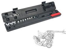 16PC Serpentine Belt Wrench Tool Kit Automotive Repair Sockets Set