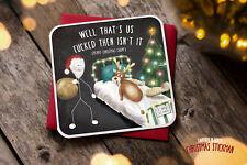 Tarjeta de Navidad saludos novedad Rude Divertido Broma Humor Navidad que es F ** Ked XS05