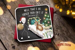 Christmas Greetings Card Novelty Rude Funny Joke Humour Xmas  XS05