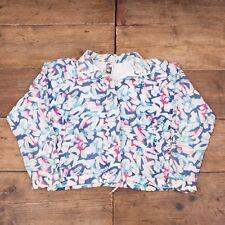 Womens Vintage Nike Challenge Court White Pink Blue Nylon Jacket Medium 12 R6036