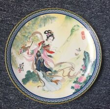 中国陶瓷工艺美术大师赵惠民彩盘《宝钗》Chinese ceramic arts and crafts master Zhao Huimin color plat