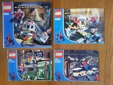 [NOTICES UNIQUEMENT] Lot de notices Lego Spider-man (ancienne gamme)