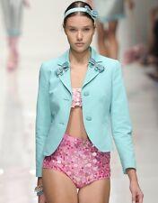 BLUGIRL BLUMARINE Aqua Sequin Hot Pants Shorts 40 4
