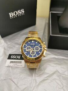 NEW HUGO BOSS HB1513340 MENS GOLD CHRONOGRAPH WATCH - WARRANTY