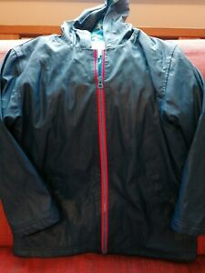 Hatley raincoat age 8 boys girls navy blue jacket coat