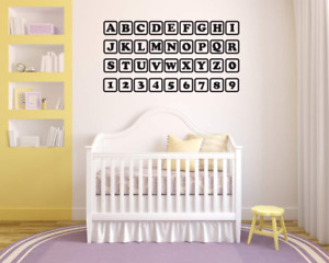 Alphabet and Numbers Wall Stickers Pack - Educational Nursery stickers