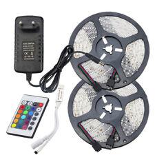 2835 RGB Light Strip Waterproof SMD 5/10M+2A/3A Power+24key IR Remote Controller
