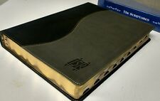 """""""THE SCRIPTURES"""" BIBLE -  ISR - LARGE PRINT! (Duo-Tone) Charcoal Cover, 2009 Ed."""