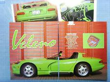 """AUTO993-RITAGLIO/CLIPPING/NEWS-1993-RINSPEED DODGE VIPER """"VELENO"""" - 4 fogli"""